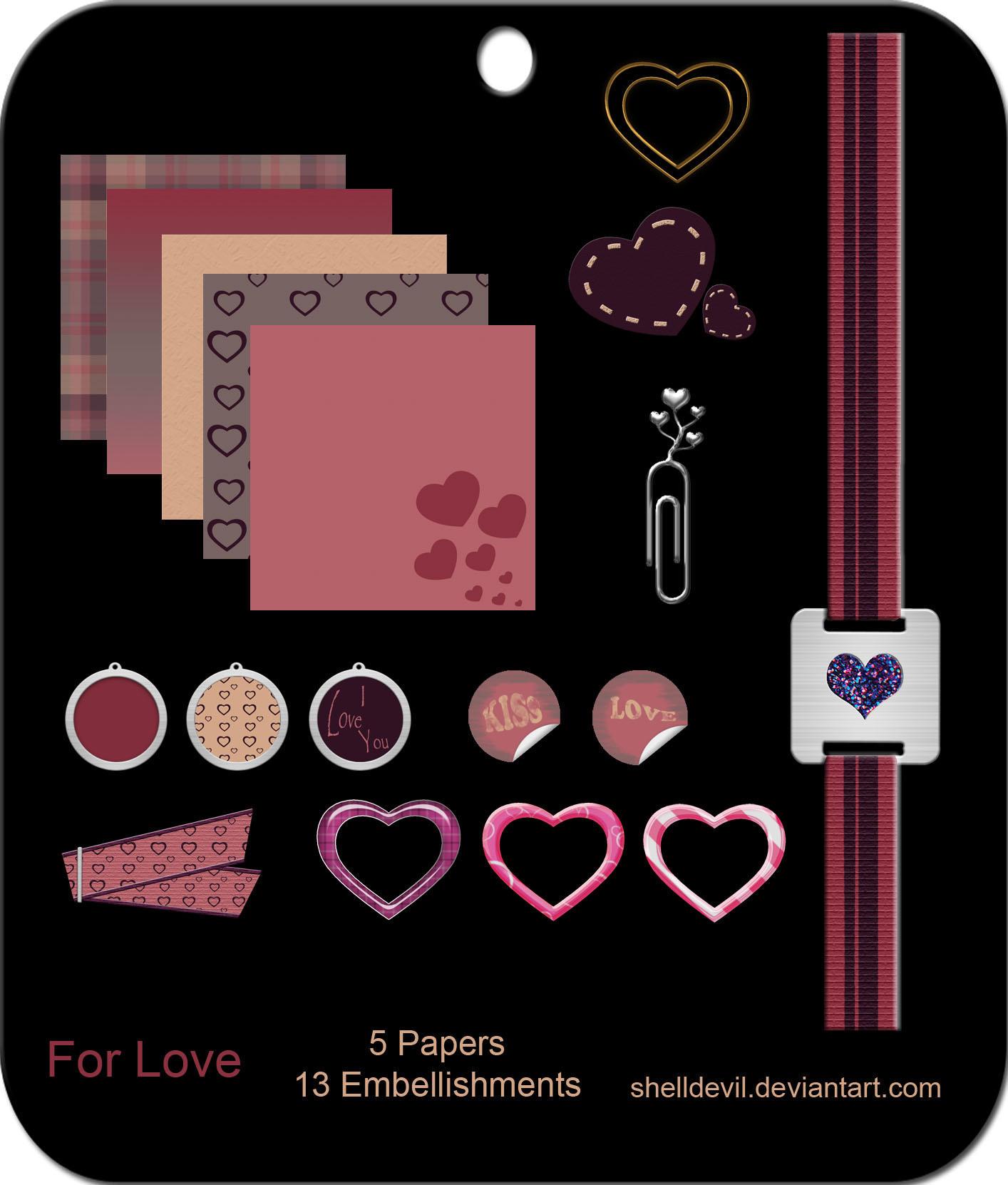 For Love - Mini Kit by shelldevil