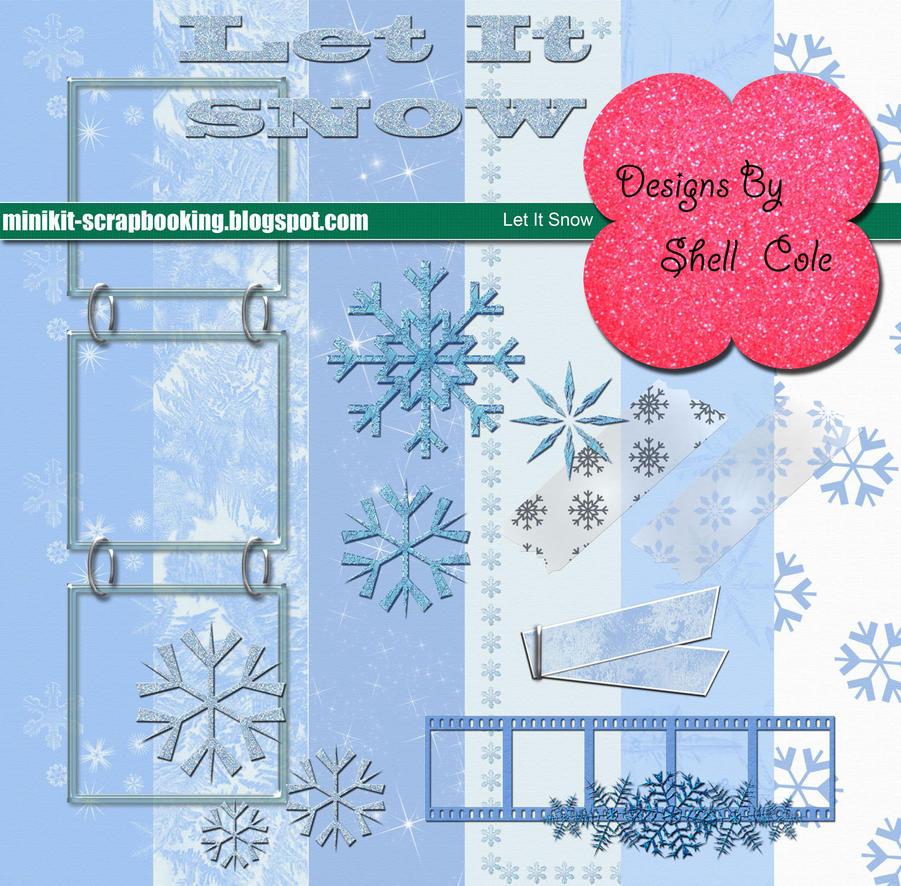 Scrapbook Kit - Let It Snow by shelldevil