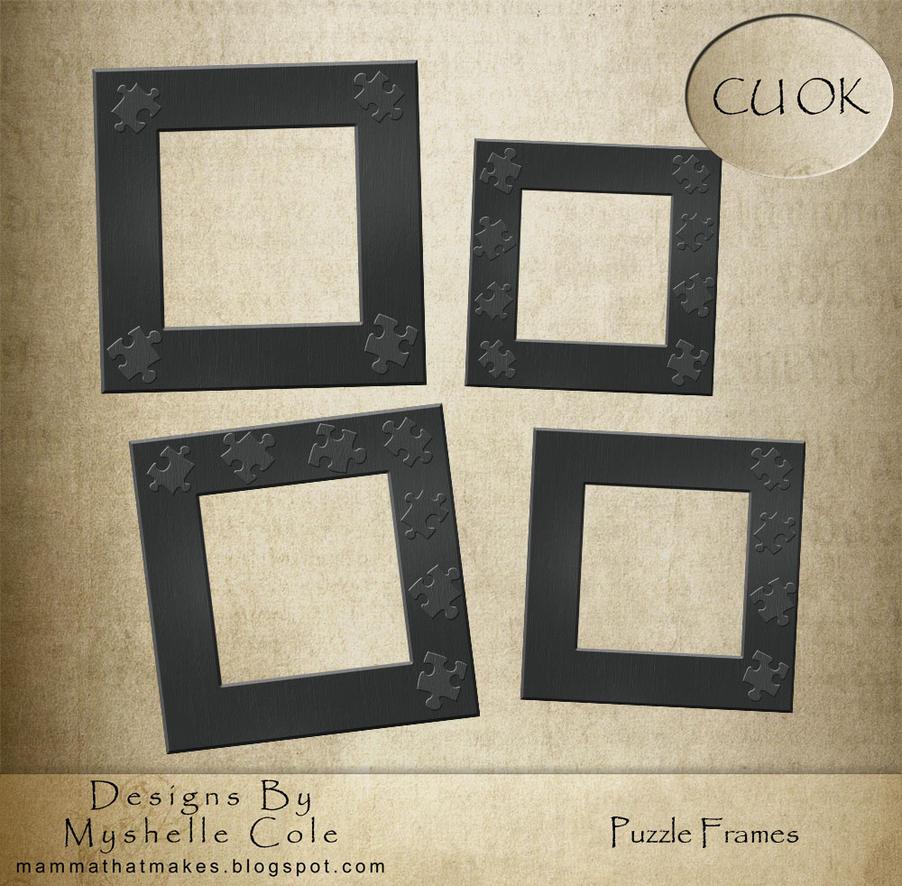 DigiScrap Freebie - Puzzle Frames