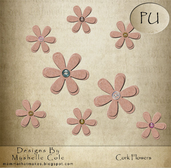 Cork and Button Flowers by shelldevil