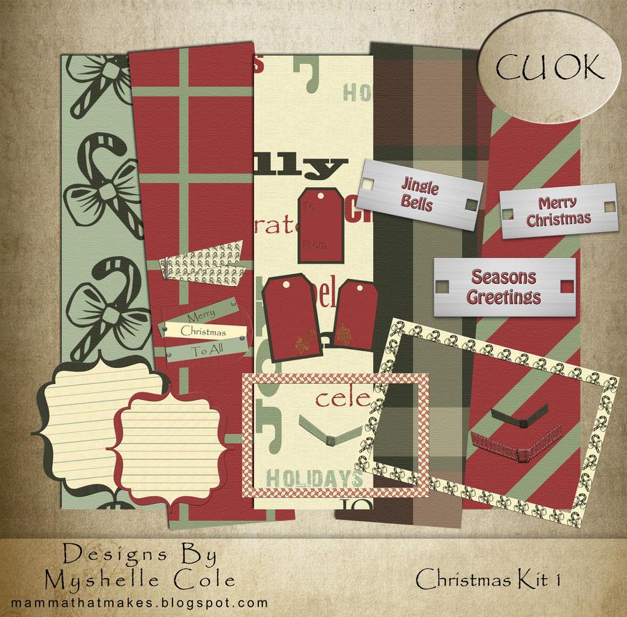 Scrap Kit - Christmas Kit 1 by shelldevil