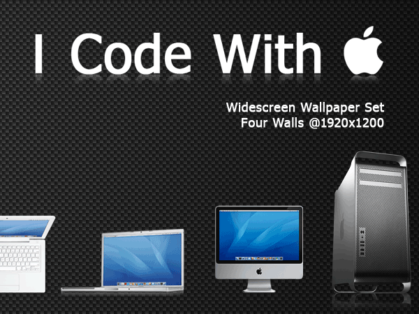 I Code With Apple - Wall Set