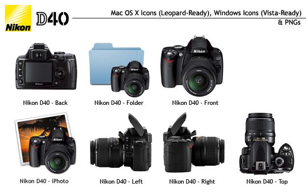 Nikon D40 Icon Set