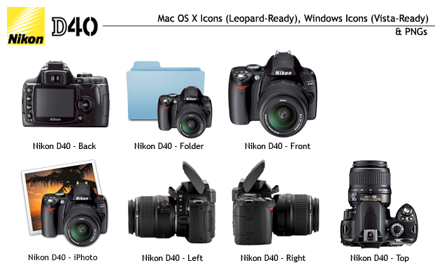 Nikon D40 Icon Set by sveiki