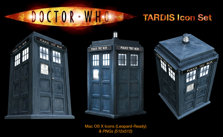 TARDIS Icon Set by sveiki