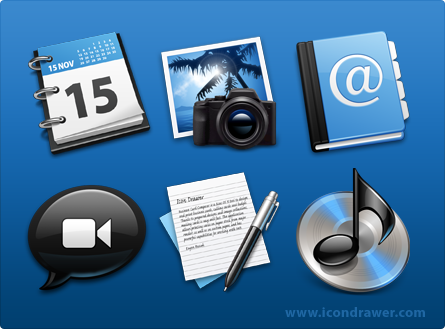 Black' Blue Icons 'Conversion' by smarties-gfx