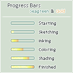 Progress Bars - Seagreen / Gold by Oceannist
