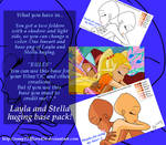 Winx base pack - Layla and Stella huging