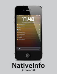 NativeInfo for iPhone 4 by mario-182