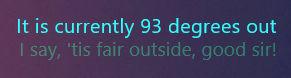 Good Weather Sir! 1.1.0