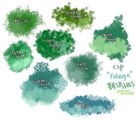 Tori's Foliage Brushes by tokyotragedies