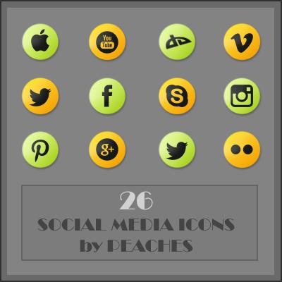 Social Media Icons by JU5TPeachy