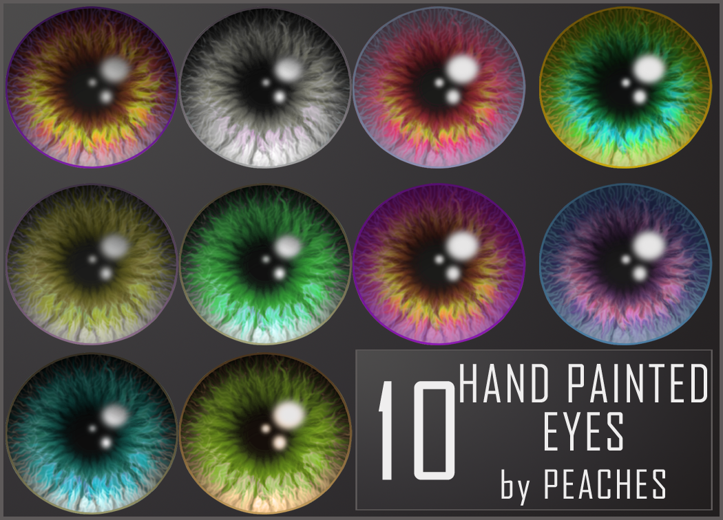 Hand Painted Eyes 2 by JU5TPeachy