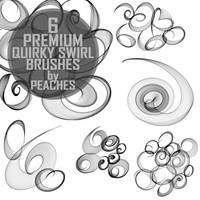 Premium Quirky Swirl Brushes