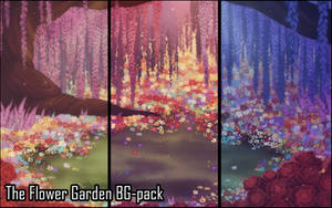 Background set - Flower Garden by momma-kuku