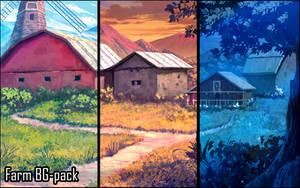 Background set - Farm by momma-kuku