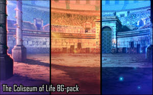 Background set - Coliseum of Life by momma-kuku
