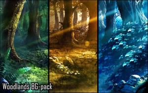 Background set - Woodlands by momma-kuku
