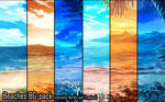 Background set - Beaches (Nordic and Tropical) by momma-kuku