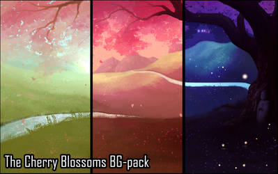 Background Set - The Cherry Blossoms
