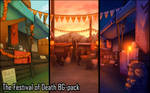 Background set - The Festival of Death by momma-kuku
