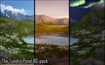 Background set - The Tundra Pond by momma-kuku