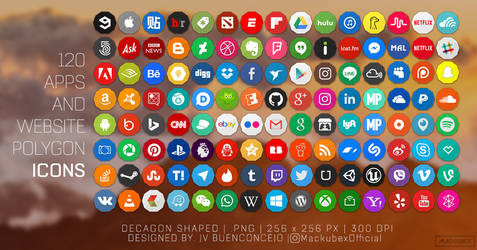 Free 120 Apps And Website Polygon Icons by jvbuenconcejo