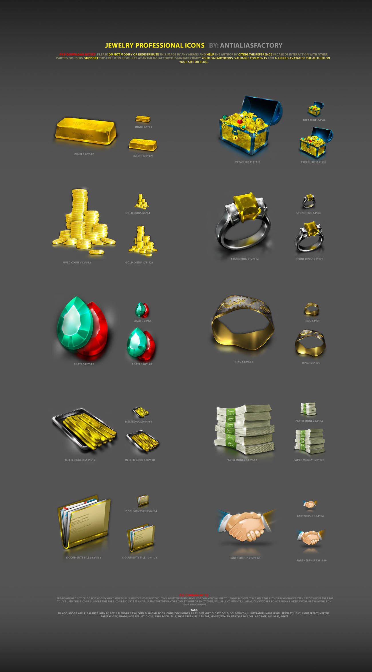 Jewelry Professional Icons by antialiasfactory