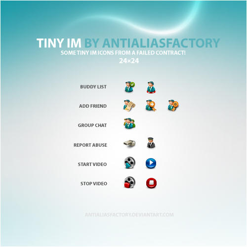 Tiny IM Icons by antialiasfactory