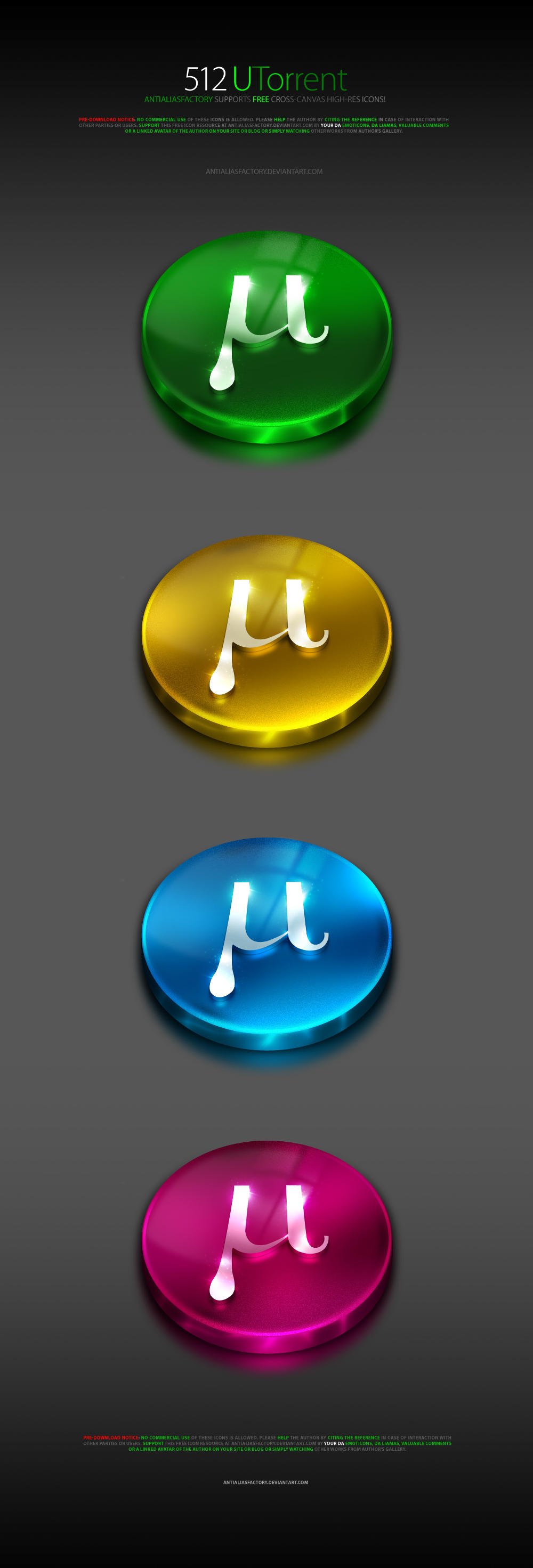 512 uTorrent icon by antialiasfactory
