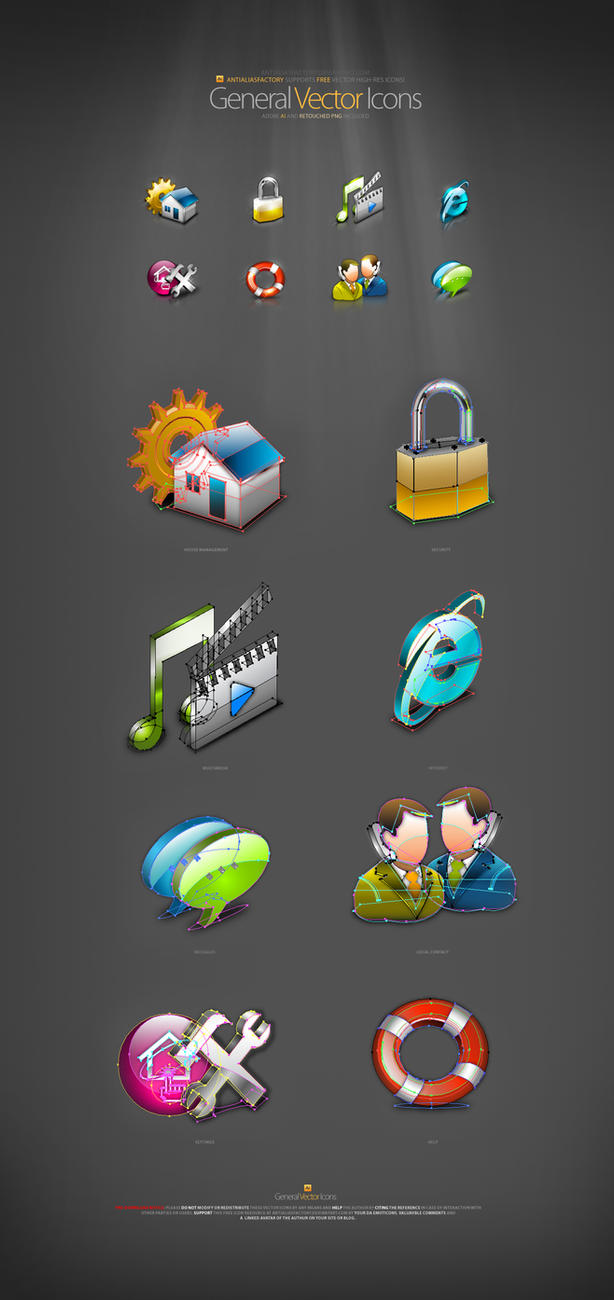 General Vector Icons by antialiasfactory