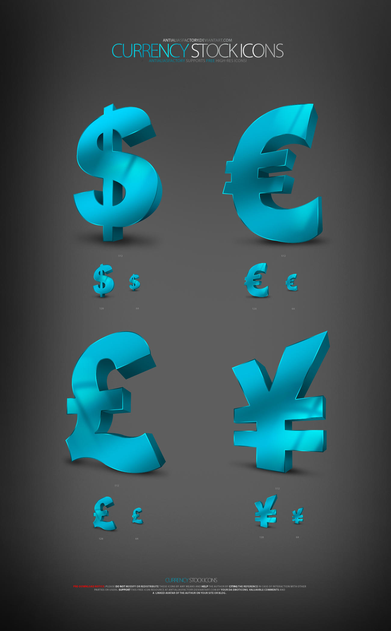 Currency Stock Icons by antialiasfactory