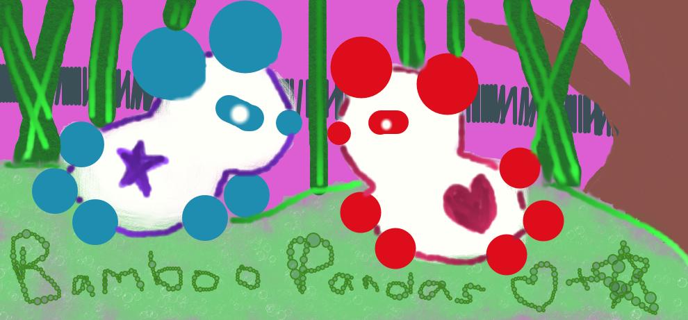 Panda Heart and Star by Dreamneko525