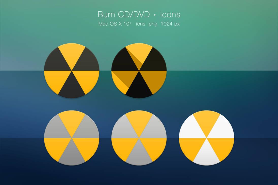 Burn (Brand) CD/DVD app icons Mac OS X (2) by Zirifio on DeviantArt