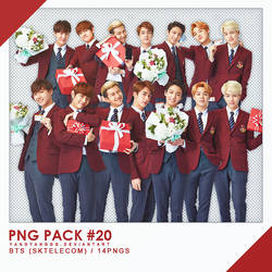 PNG PACK#20 - BTS (SKtelecom)pt.2 14PNGs - By Yang by Yangyanggg