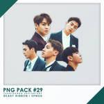 PNG PACK#29 -   BEAST Ribbon  5PNGs - By Yangyangg