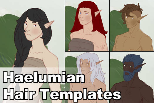 Haelumians Hair Templates