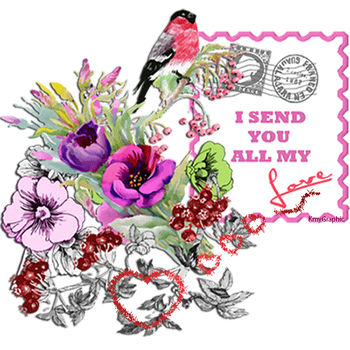 I send  you all my Love by KmyGraphic