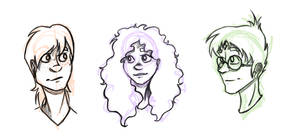 Ron, Hermione, Harry