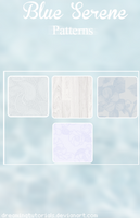 Blue Serene Patterns by DreamingTutorials