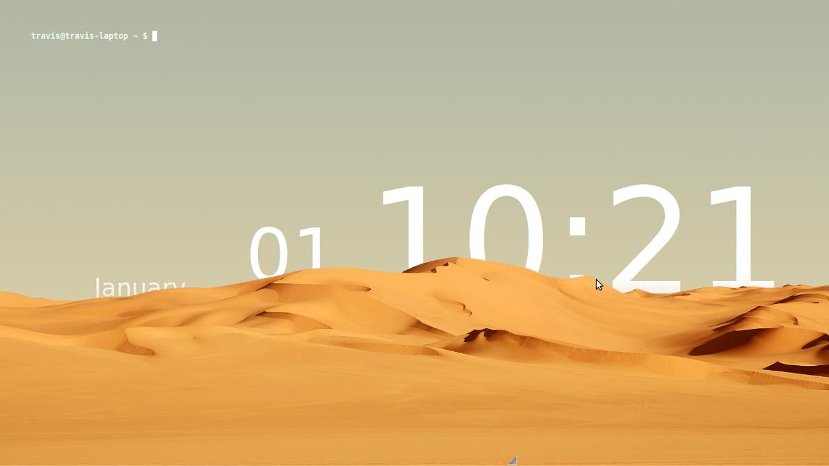 Sands of Time Linux desktop by Flamer-Shaftglutton