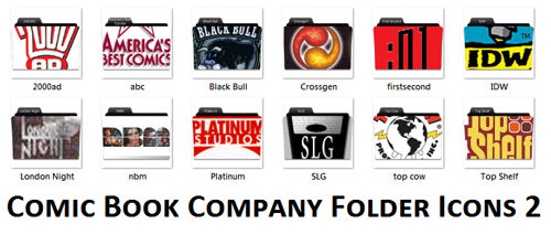 Comic Book Company Folder Icon
