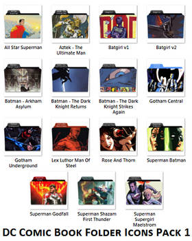 DC Comic Book Folder Icons 1