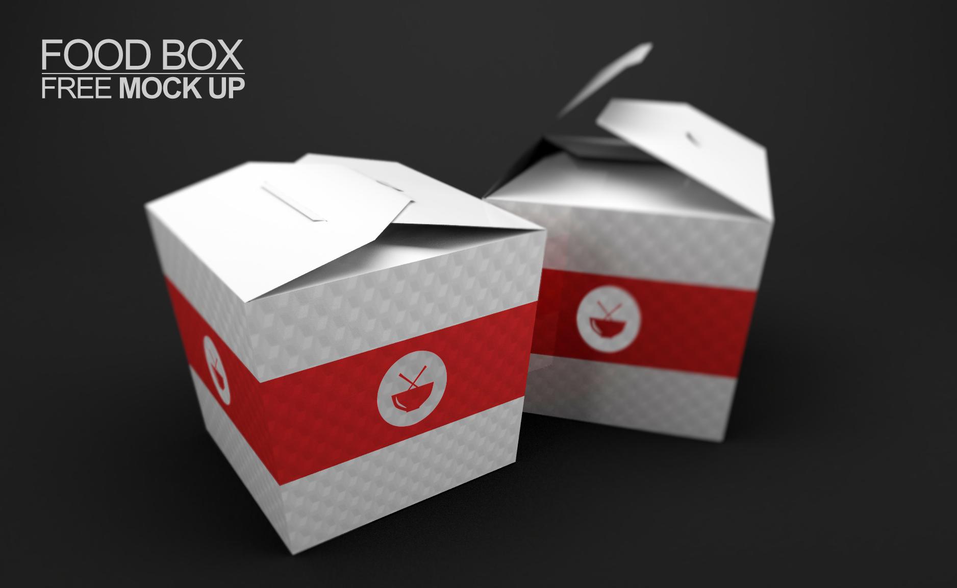 FoodBOX free Mock Up PSD