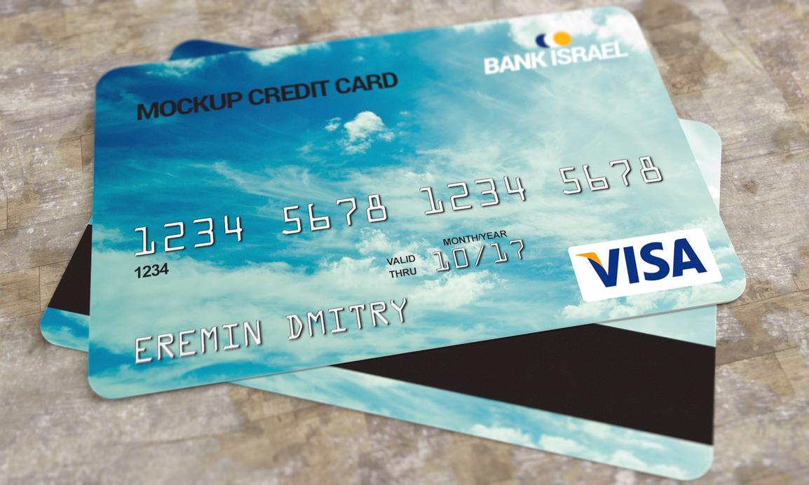Credit card mockup PSD by dimkoops