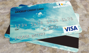 Credit card mockup PSD by dimkoops