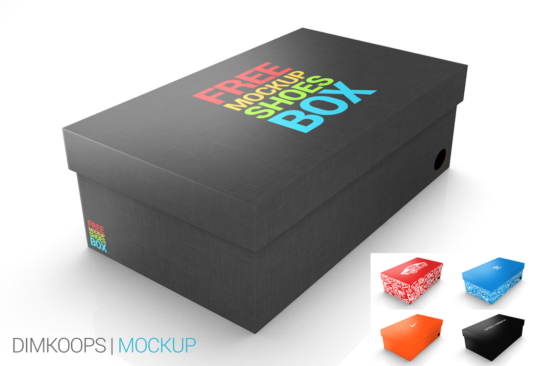 mockup shoes box by dimkoops on deviantart. Black Bedroom Furniture Sets. Home Design Ideas