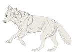 Galloping Wolf Free Lineart