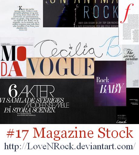 Magazine Stock by LOVEnROCK