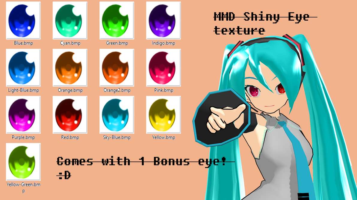 MMD Ocean eyetextures DL by maunkid t